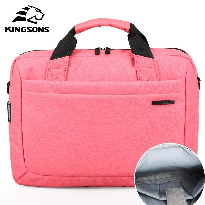 Купить с кэшбэком Kingsons Waterproof High Quality Laptop Handbag for 12 13 14 15 Inch Computer Bussiness Travel Men and Women Notebook Bag 2019