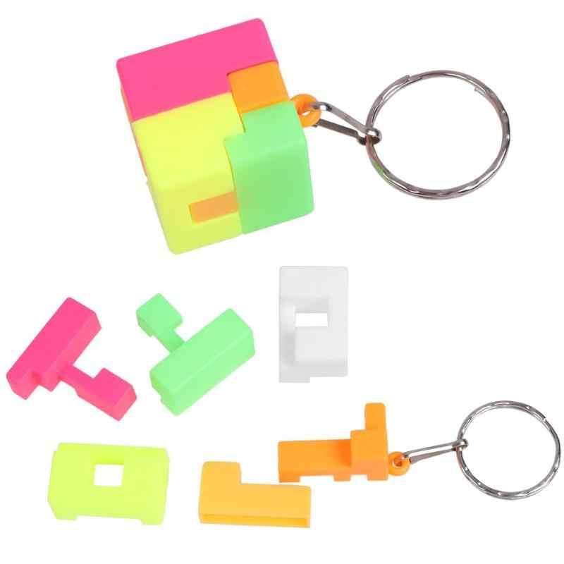 เด็ก Mini สำหรับ Rubik Magic Cube Anti - stress ของเล่นปริศนาความเร็วการศึกษาของเล่น Keychain