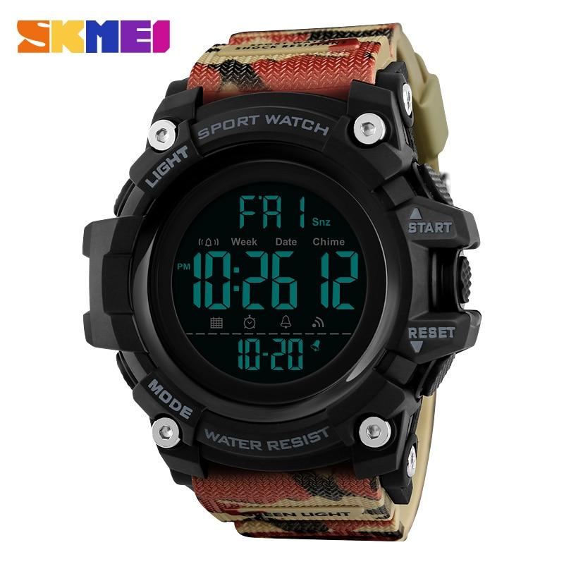 SKMEI Men Outdoor Sports Watch Countdown 2Time Alarm Fashion Reloj - Relojes para hombres