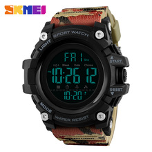 SKMEI Menn Outdoor Sports Watch Countdown 2Time Alarm Fashion Digital Watch 5Bar Vanntett Armbåndsur Relogio Masculino 1384