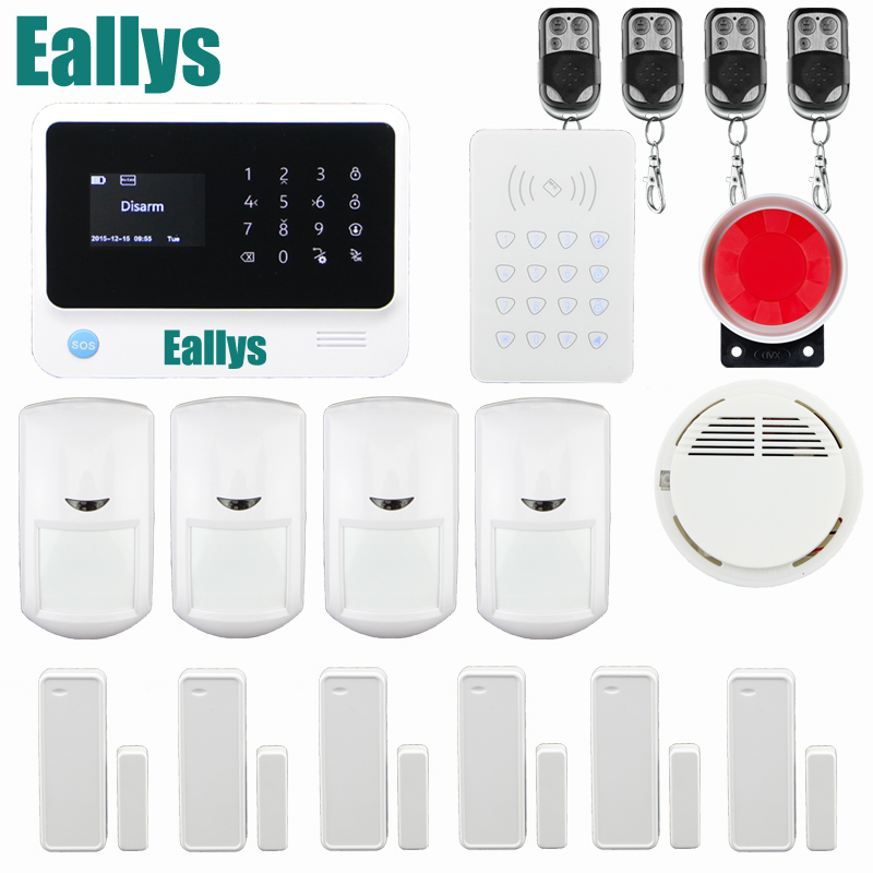 APP Control Power Socket Wireless Intruder Burglar Security Wifi GSM Alarm System G90B with Wireless Smoke Detector wireless remote control power socket smart rf socket control power for home appliance compatible with g90b wifi gsm sms alarm page 8