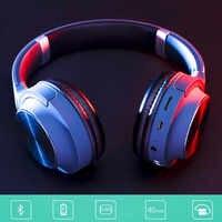 Senza Fili Bluetooth 5.0 Della Cuffia Over-Ear Lsolamento Del Rumore HIFI Stereo Riduzione Del Rumore Del Microfono cancellazione dell'eco.