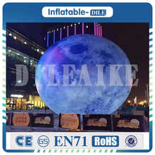 Inflatable Moon Giant Balloon LED Satellite Lighting Inflated with Light 2m-6m