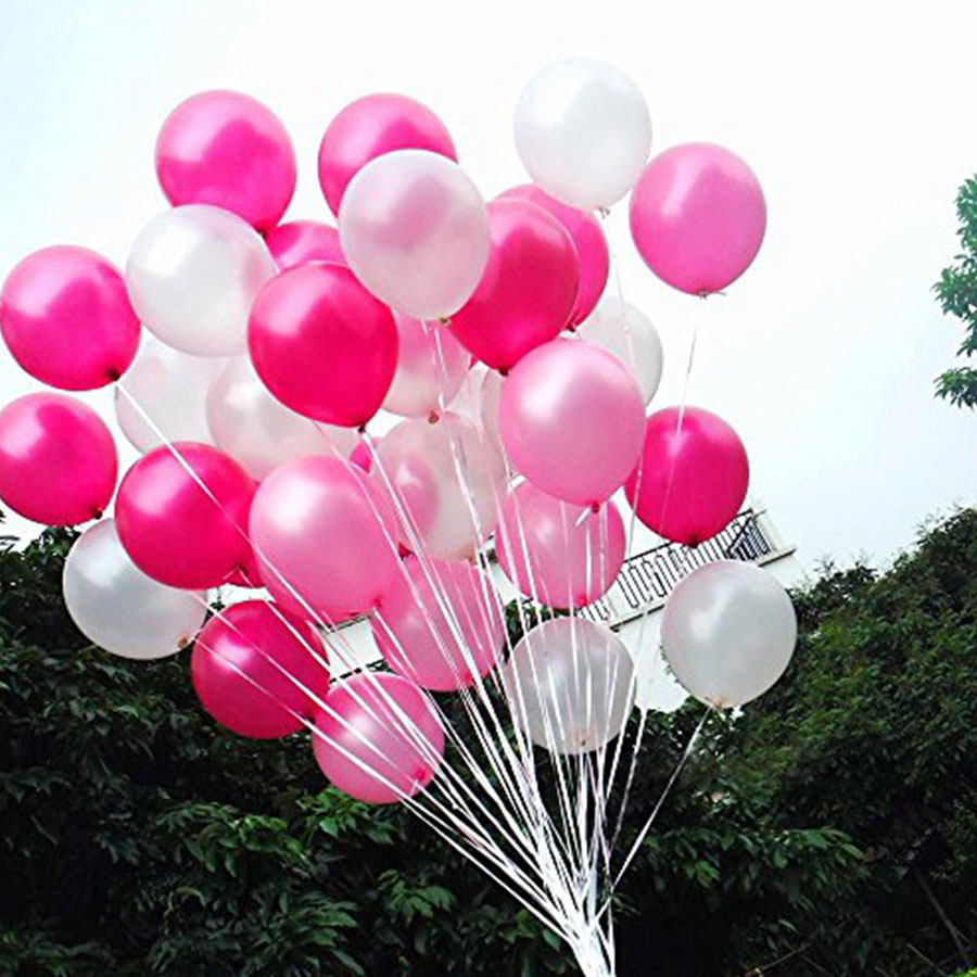 12 inch Oval Pearl Latex Balloons White Pink Rose Color Balloon <font><b>30</b></font> pcs for Wedding Anniversary Festive Party decorations <font><b>30</b></font> <font><b>anni</b></font> image