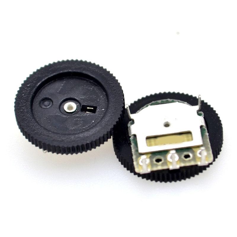 Honest 50pcs / Bag Gear Dial Potentiometer Single Joint 3pin 1k 10k 20k (50k 5pin) 16 * 2mm Bright In Colour