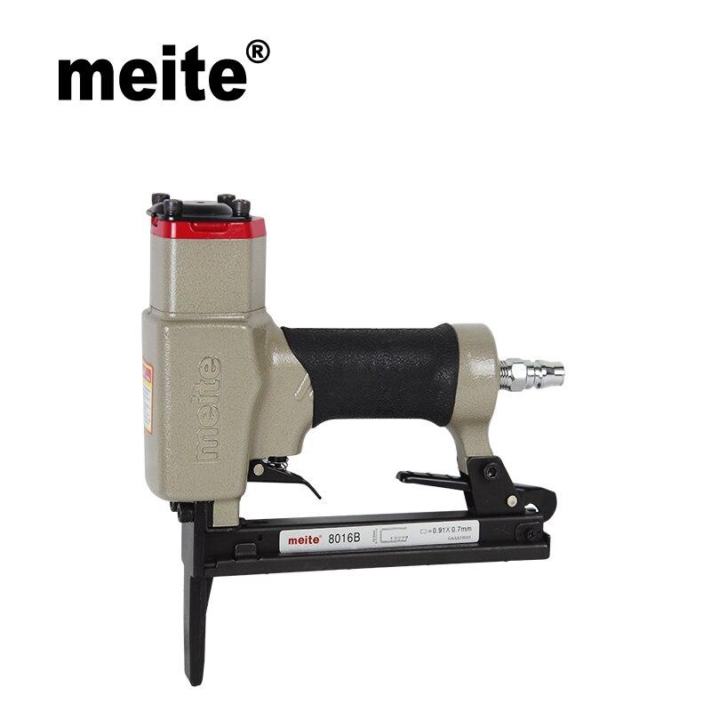 Meite 8016BL pneumatic stapler with long nose air tools air nailer gun for make sofa furniture
