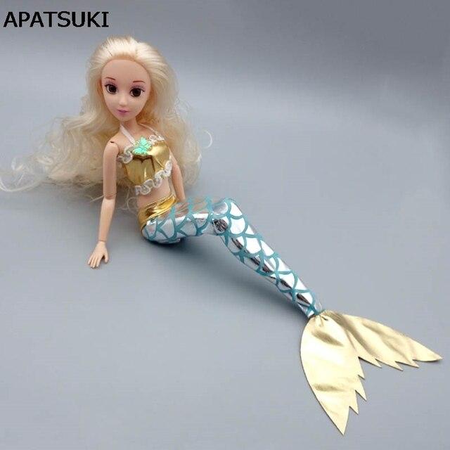 Kualitas tinggi Buatan Tangan Boneka Dress Gaun Rok Fashion Pakaian Untuk  Barbie Doll Asli Mermaid Tail 8a70e8efb3