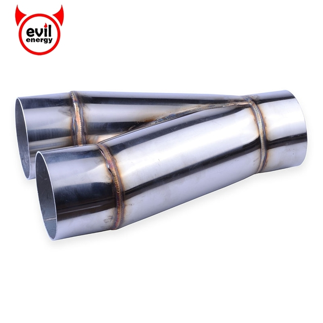 3 Inch Chrome Exhaust Pipe & UNIVERSAL X PIPE STAINLESS