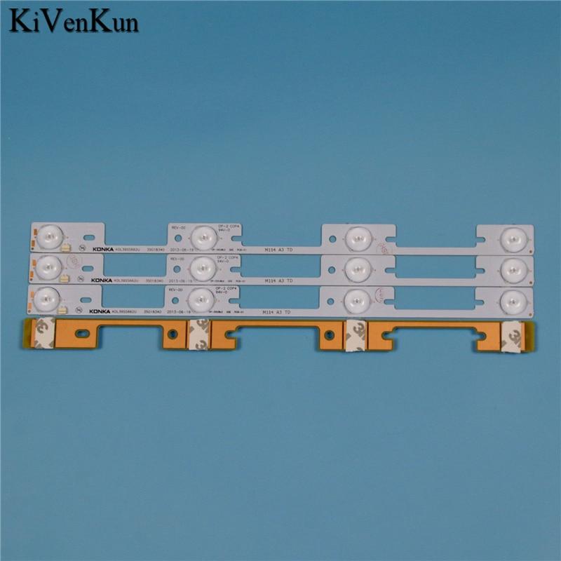 תאורה אחורית 4 LED 326mm מנורת תאורה אחורית ברצועה עבור טושיבה 40L2400 40L540040 40L2400U L2400U DL3944 אור DL4045 קורית טירת טלוויזיה להקות העדשה LED (2)