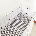 5Pcs/Sets Baby Bedding Sets  Cotton Custom Made  Baby Bumper Bed Around Cot Sheet Removable  Anti-collision  3D Net Bed Bumpers