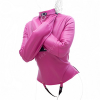 Soft PU Leather Fetish Straitjacket Bondage Restraint Top,Leather Straight Jacket Fetish Gimp ,Cosplay Adults Sex Toys For Woman
