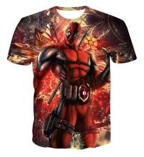 Comic Badass Deadpool T-Shirt Tees Men Women Cartoon Characters 3d t shirt Funny Casual tee shirts tops