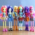 18.5 CM ou 25 CM minha íris poni cavalo decoração brinquedos PVC Figuras presente das Crianças Boneca modelo colorido menina