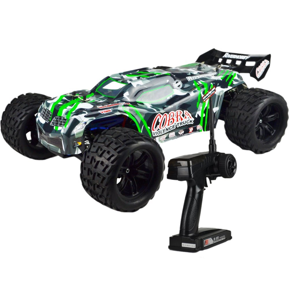 Electric Cobra EBD RC Truck with 2 4GHz Radio 8 4V Vehicle Battery and Charger Included