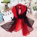 160*50cm silk scarf  Wrap Solid Colored Scarves Foulard Chiffon Luxury Brand Scarf Bufandas Cape Head Scarves 2016