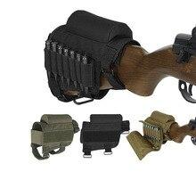 Регулируемый тактический винтовка щек отдых приклад с патронами чехол винтовка патроны круглый картридж сумка держатель нейлон