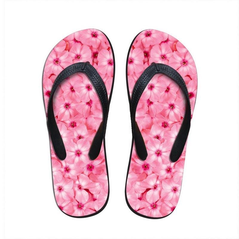 Noisydesigns nyári női papucs női flip flops platform rózsaszín - Női cipő