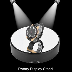 Image 3 - Rotierenden Langlebig Plattenspieler Professionelle Unterstützung Display Stand Art Spiegel Glas Spielzeug Modell Uhr 360 Schwenk Schmuck Halter Handwerk