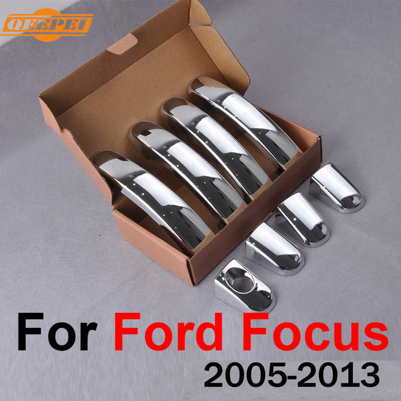 QEEPEI 8PCS Car Door Handle Cover For Ford Focus MK2 2005-2013 Focus 3 MK3 2012-2015 Cars Decorations QDC023
