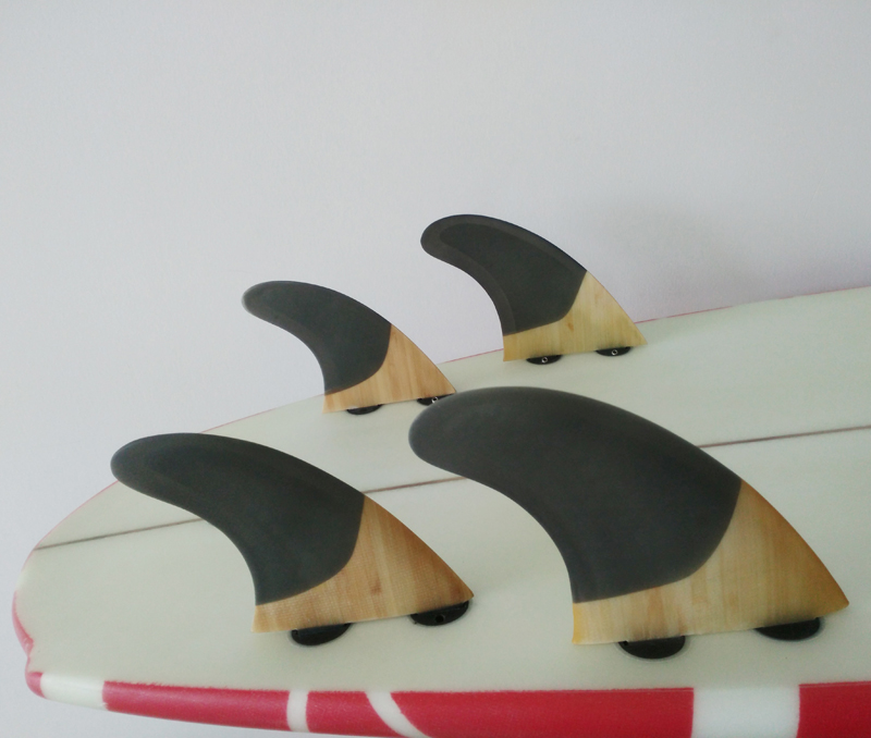 SUP Surfboard FCS-Quad-Fins G5 + GX Quilhas Honeycomb + Bamboo Surf - Veesport - Foto 5