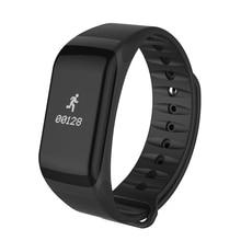 Умный Браслет артериального давления смотреть F1 Смарт Браслет Heart Rate Monitor Watch SmartBand Беспроводной Фитнес Для Android IOS Телефон