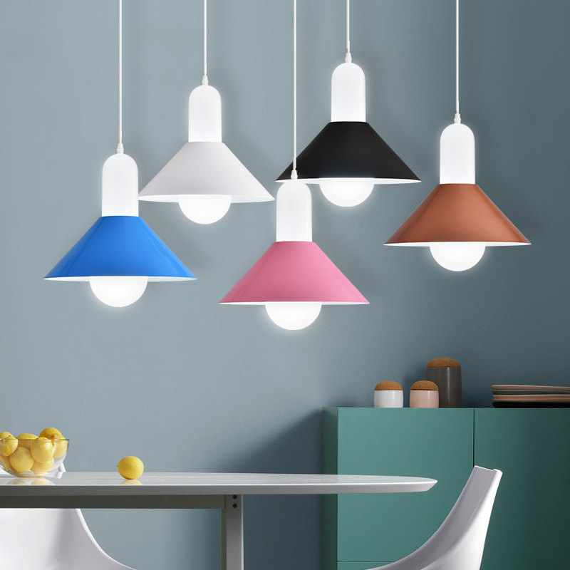 Nordic Modern colorful iron Pendant Lights dining/living room Hanging Light fixture,Restaurant/Bar/Coffee Shop industrial lamps loft nordic modern pendant lamps restaurant coffee shop creative iron english combination light