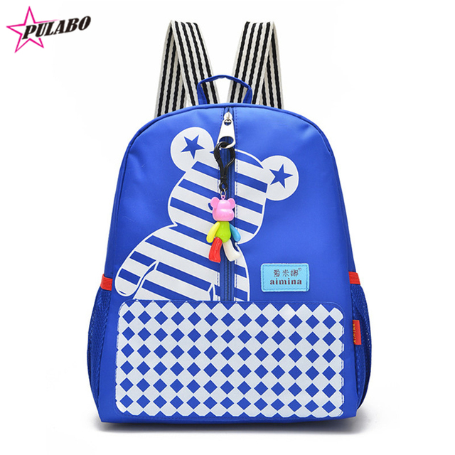 8f078fd4531f 2016 New Printing Bear Boys School Backpacks Small Baby Custom personal  name Backpack Kids School Bag for Children Girls Mochila