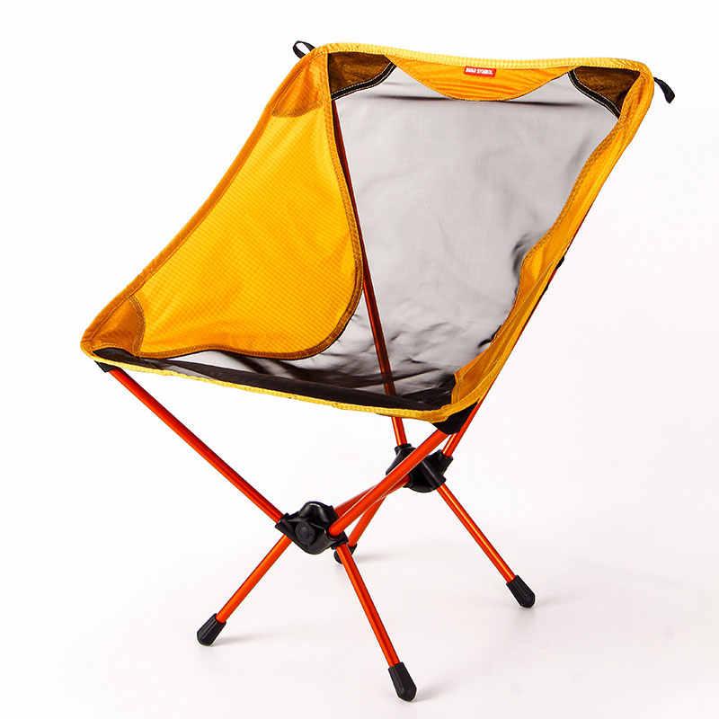 Conjunto de Luz Portátil plegable Camping conjunto mesa plegable silla escritorio viaje 7075 aleación Al ultraligero gris dorado Al aire libre conjunto