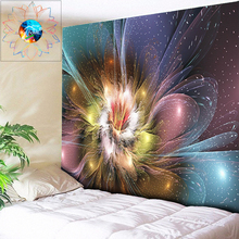 цена на Abstract Flower Boho Decor Hippie Mandala Tapestry Wall Hanging Psychedelic Decorative Wall Tapestry Wall Cloth tapiz pared tela
