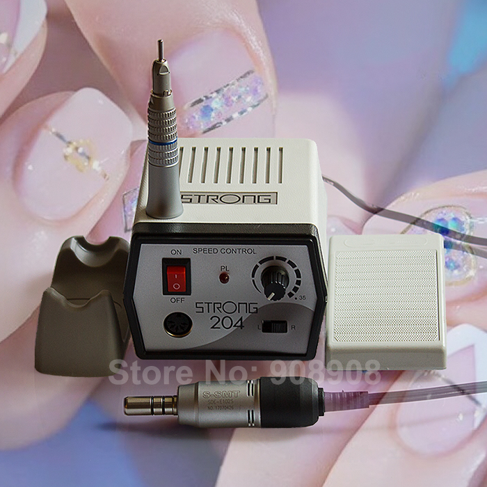 Dental Lab Clinic Manicure Pedicure Podology Straight Head Drill Handpiece Electric Micromotor Strong 204 polishing 110V/220V