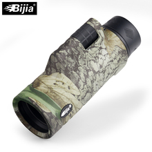 BIJIA 10x42 single binocular night vision monocular 4 colors travel telescope multi coating lenses with tripod interface