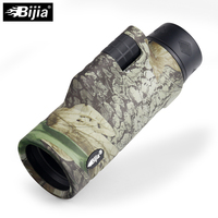 BIJIA 10x42 High Quality 4 colors Multi coated BAK4 Prism monocular Hunting Bird Watching travel telescope