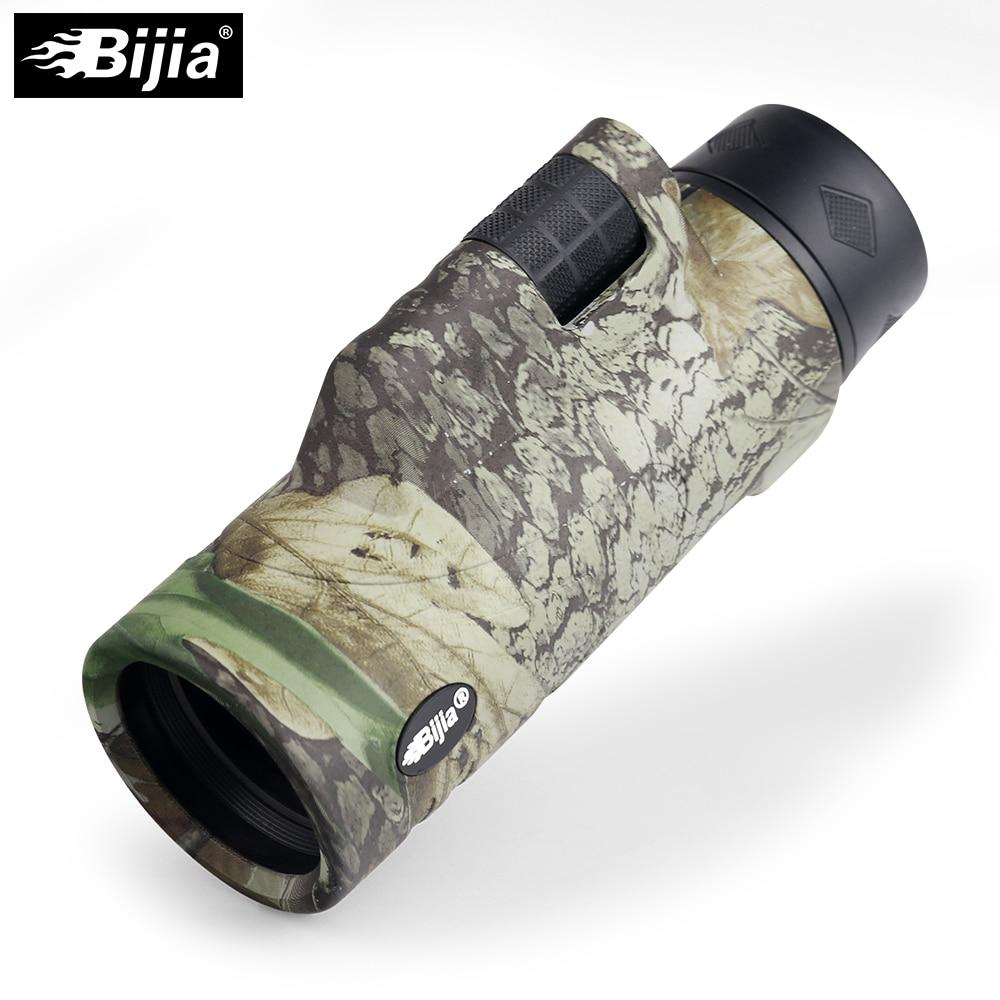 BIJIA 10x42 x de alta calidad 4 colores Multi-revestido de BAK4 prisma monocular de caza de aves de telescopio