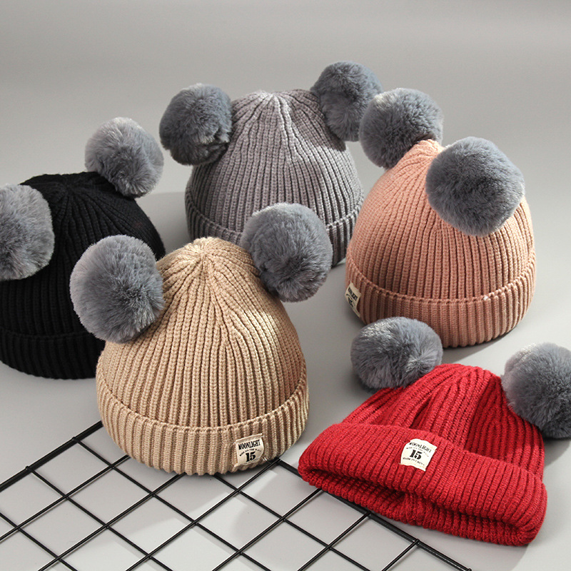 558b4d33cef 2018 New High Quality Pom Pom Cheap Custom Winter Hats  Knitted Beanie  Knitted  Hat-in Hats   Caps from Mother   Kids on Aliexpress.com