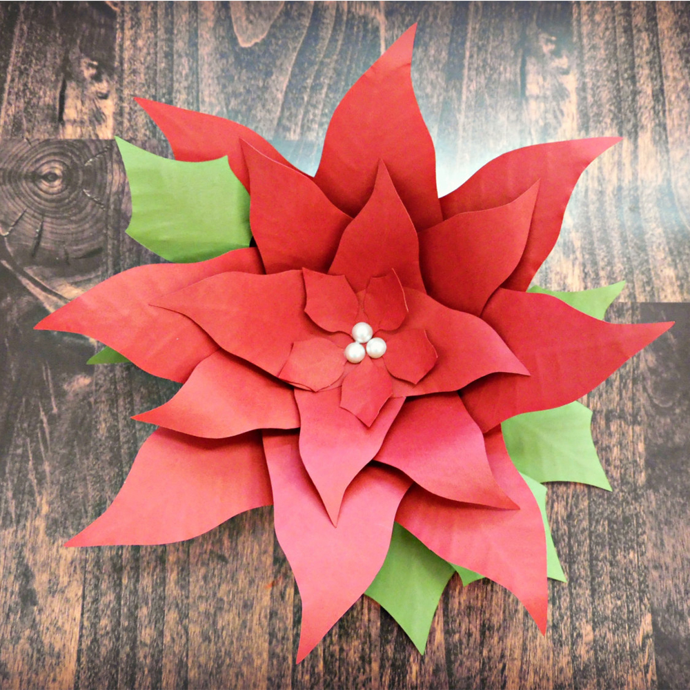 3pcs 30cm paper poinsettia flowers giant paper flowers for 3pcs 30cm paper poinsettia flowers giant paper flowers for christmas photo backdrop christmas decor in artificial dried flowers from home garden on mightylinksfo