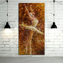 100%handpainted High Quality Oil painting On Canvas Beautiful Ballet Girl Pictures Wall Art Knife Home Dector