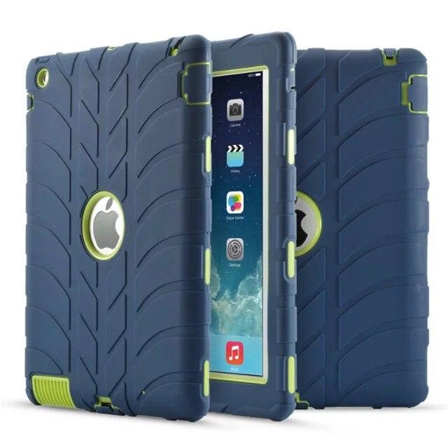 Новый Броня Case Для iPad 2 iPad 3 iPad 4 Дети Безопасный противоударный Heavy Duty Силиконовый Футляр Чехол Для Ipad 2 3 4 Стол Case