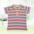 2-8 Años de Edad, LeJin Niños Camiseta de Los Muchachos Del O-cuello Camisas Stripped Desgaste Del Verano para Niños en 100% algodón