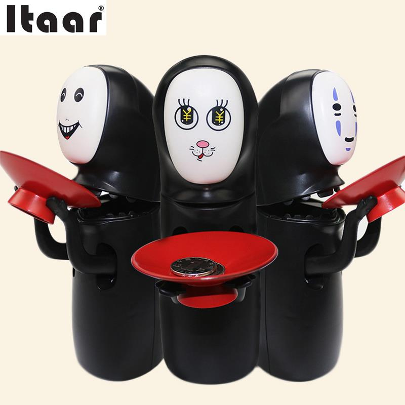No Face Male Piggy Bank Hiccup Sound Money Coin Storage Container Bins Kids Toys Funny Gadgets Anime Action Figure 3 Styles refillable ink cartridges for hp 70 z2100 3100 b9183 with auto reset chip