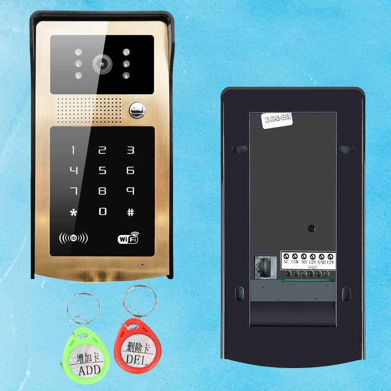 Новое Поступление Wi-Fi 125 кГц Rfid Карты Видео-Телефон Двери Сенсорной Клавиатурой Беспроводной Дверной Звонок IP Главная Видео Дверной Звонок ...