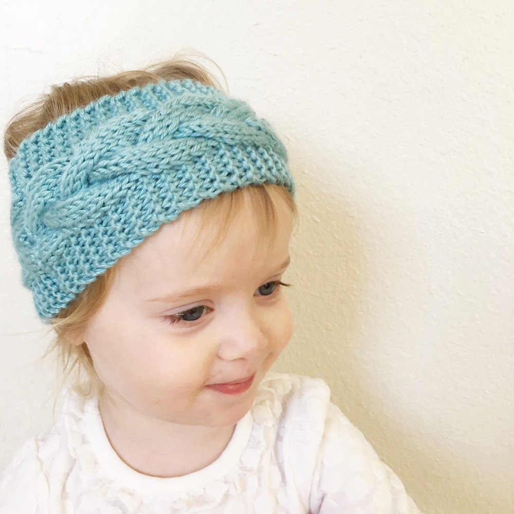 Зимняя теплая вязаная Вязаная Детская повязка на голову с тюрбаном для маленьких девочек, детские повязки на голову, аксессуары для волос, повязка на голову, головной убор