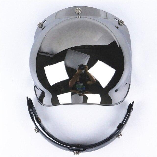 7e6fc1ff Universal viseira bolha 3-Snap Flip up Adjustable Lens Bubble Visor Face  Shield Mask Motorcycle Helmet Moto Casco Half Helmets