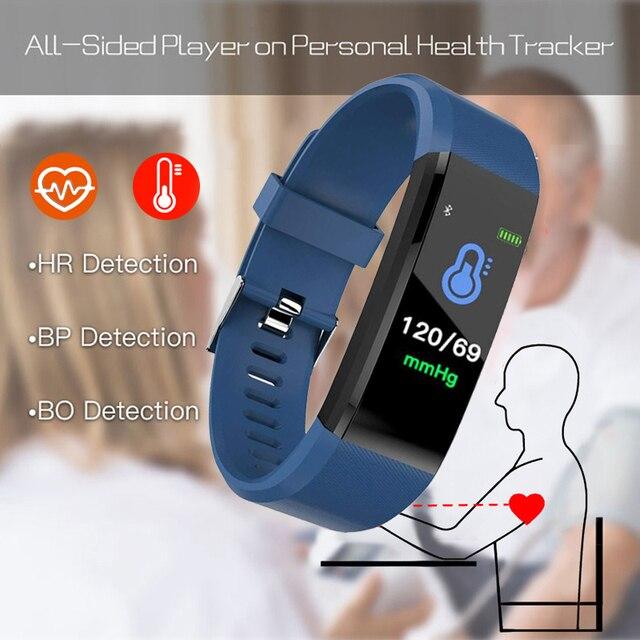 Health Bracelet Heart Rate Blood Pressure Smart Band Fitness Tracker Smartband Wristband honor mi Band 3 fit bit Smart Watch Men 1