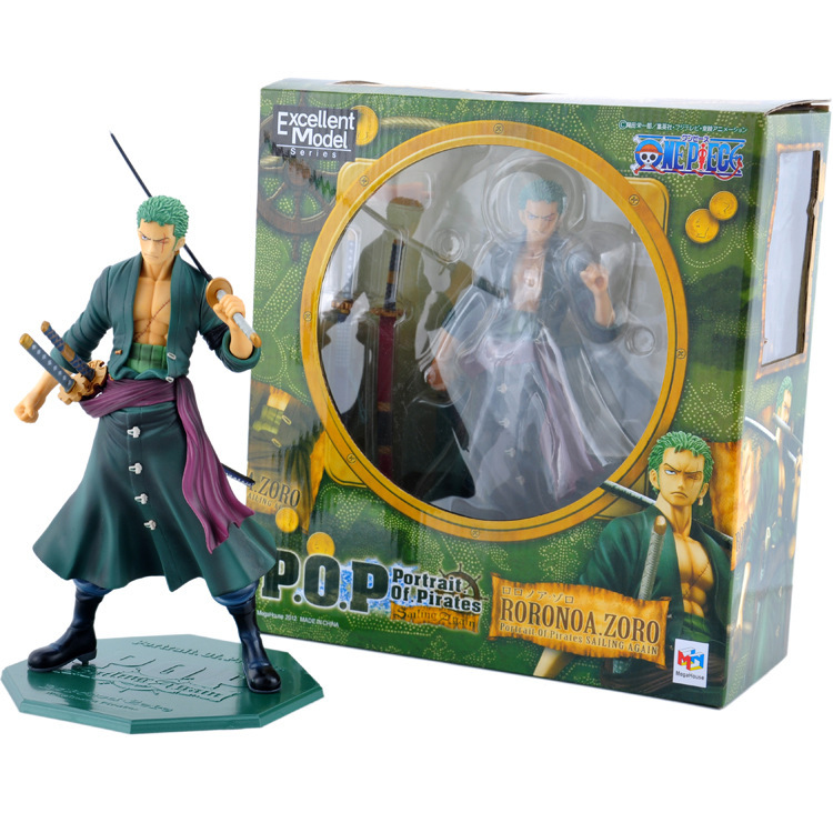 Anime One Piece 23cm P.O.P POP Roronoa Zoro After 2 Years PVC Figure Toy PVC Action Figure Collection Model Toy new hot 17cm one piece roronoa zoro action figure toys doll collection christmas toy with box combat version suolo5