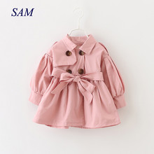 Baby Coats Newborn Baby Girl Clothes 2019 Autumn Bow Coat Infant Cloth