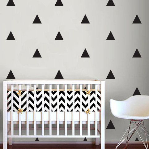 Buy triangle wall sticker home decor baby nursery wall decals for kids room - Modern kids wall decor ...