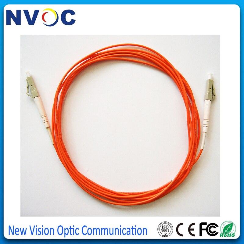 5 шт./лот, LC/Φ/UPC мм, Simplex,2 м, 3,0 мм, ПВХ покрытие, LC UPC многорежимный внутренний волоконно-оптический соединительный шнур, соединительный кабель