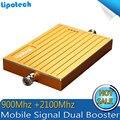 ЖК-Усилитель с Высоким Коэффициентом Усиления Dual Band Мобильный Усилитель Сигнала 2 Г 3 Г W-CDMA 2100 мГц Усилитель Сигнала GSM Смарт телефон Сигнал Повторителя