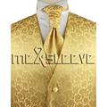 free shipping  high quality  gold  Men's Suit Tuxedo Vest and ascot tie Set