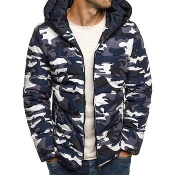 Zogaa 2018 New Autumn Jacket Men Hooded Winter Coat Fashion Camouflage Warm Casual Zipper Parkas Coats Male Clothing